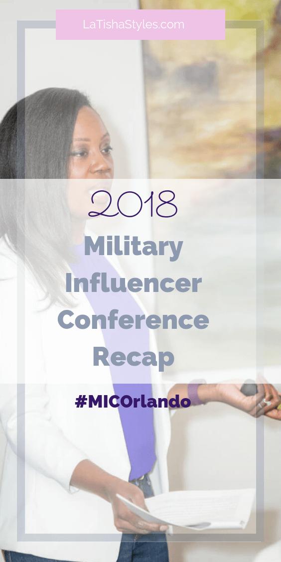 2018 Military Influencer Conference recap Pinterest