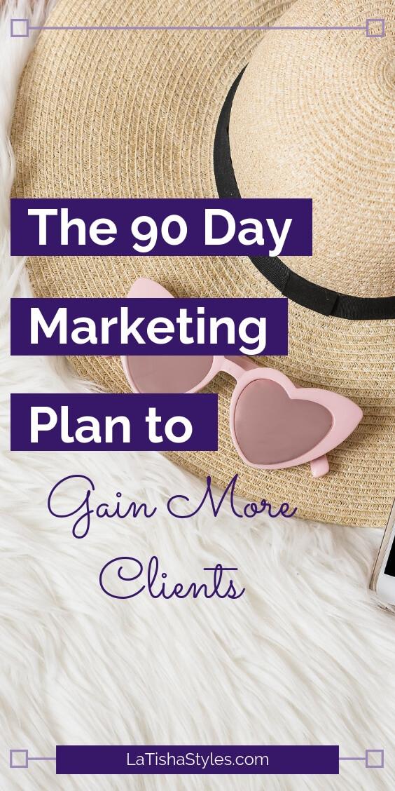 90 day marketing plan gain coaching clients