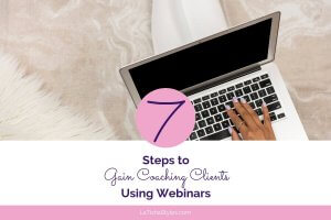 gain coaching clients using webinars Blog