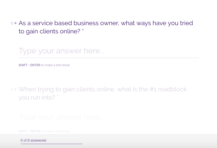 survey to gain coaching clients part 2