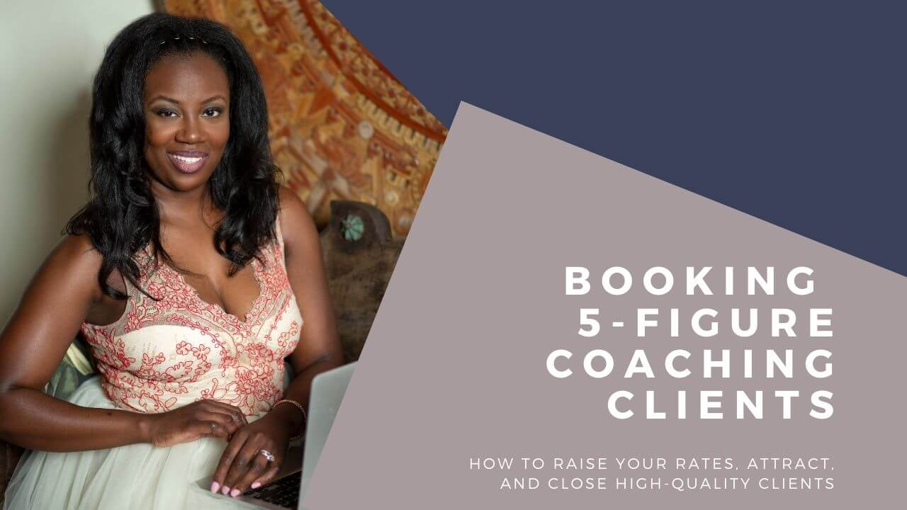 booking 5-figure clients training