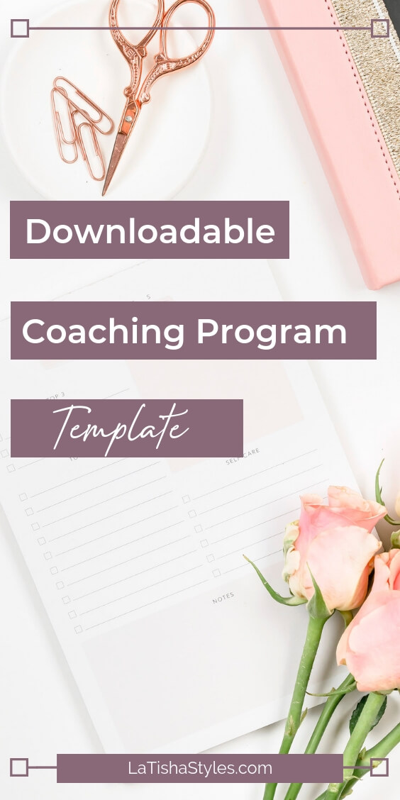 Coaching package template create signature group program
