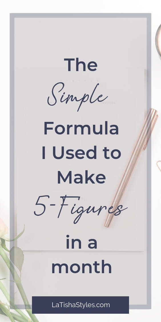 simple formula i used to make 5-figures in a month